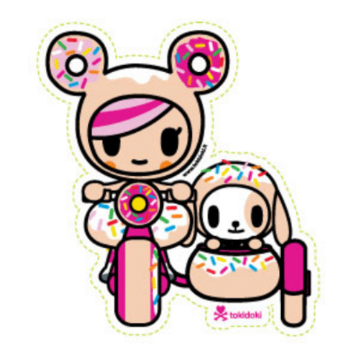 Tokidoki Donutella Side Car 4 in Sticker