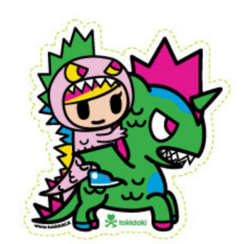 Tokidoki Little Terror and Kaiju 5 in Sticker