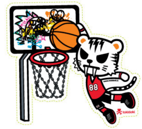 Tokidoki Slam dunk Tiger 5 in Sticker
