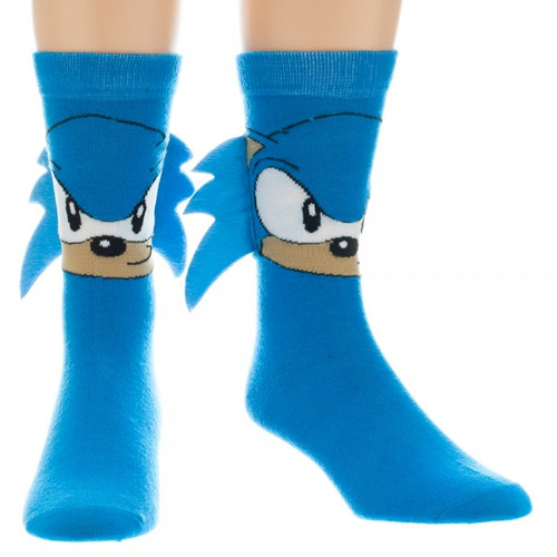 Sonic the Hedgehog: Men's Socks Sonic Crew Socks w/ Quills