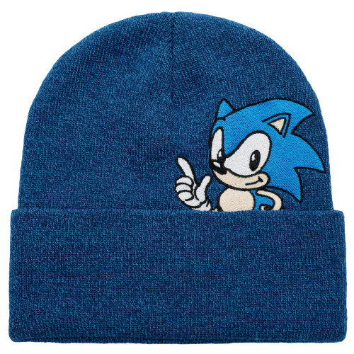 Sonic The Hedgehog Adult Beanie Sonic Peek-a-Boo