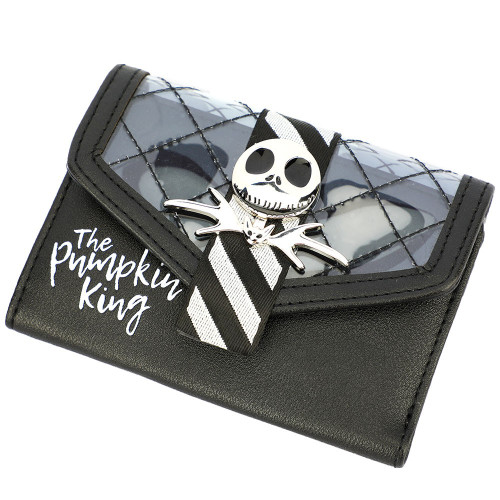 The Nightmare Before Christmas Adult Bi-Fold Wallet Jack Metal Badge