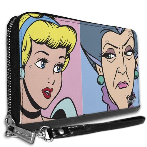 Cinderella and Wicked Step Mother Women's Zip Around Wallet