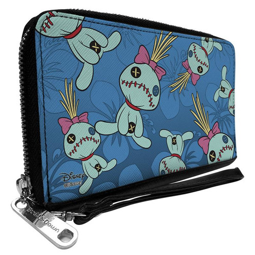 Disney Lilo and Stitch Scrump Hisbiscus Women's Zip Around Wallet