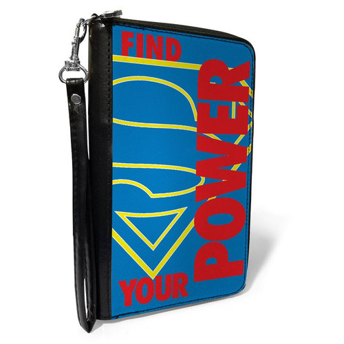 Superman Shield logo Find Your Power Women's Zip Around Wallet