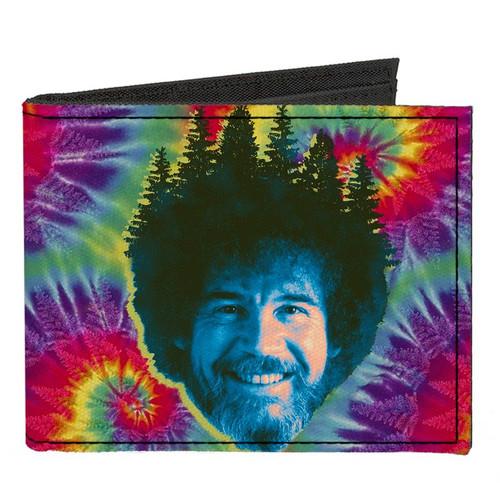 Bob Ross Smiling Happy Vibes Canvas Men's Bi-Fold Wallet