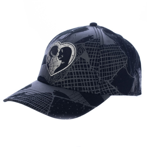 The Nightmare Before Christmas: Women's Metallic Jack & Sally Pre-Curved Snapback