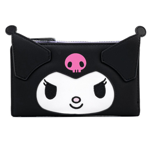 Sanrio Kuromi Face Flap Wallet
