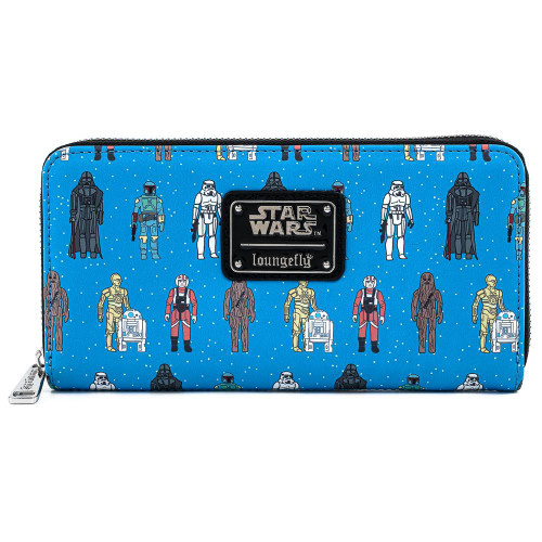 Lougefly x Star Wars Action Figures Zip Around Long Wallet