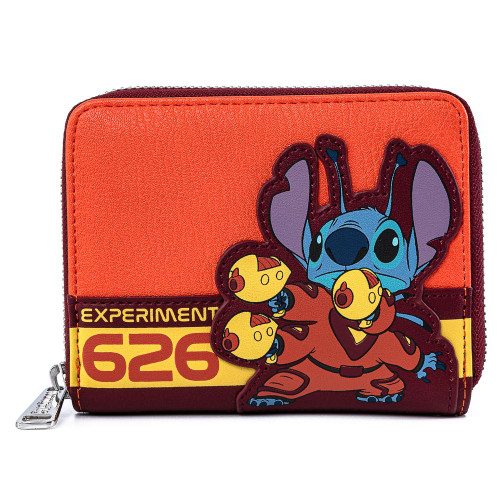 Loungefly Disney Lilo and Stitch Experiment 626 Short Zip Around Wallet