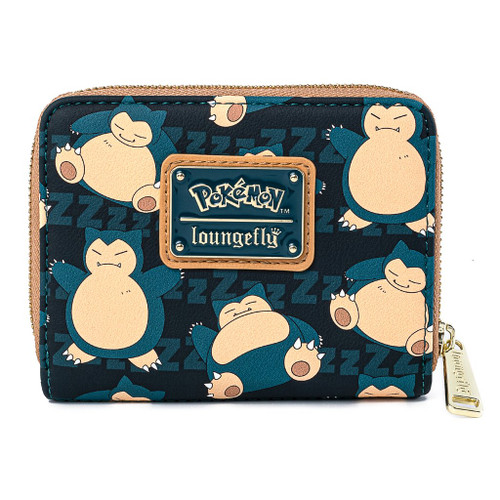 Loungefly Pokemon Snorlax Short Zip Around Wallet