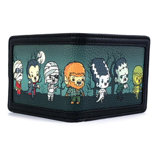 Loungefly Universal Monsters Chibi Characters Bi fold Wallet