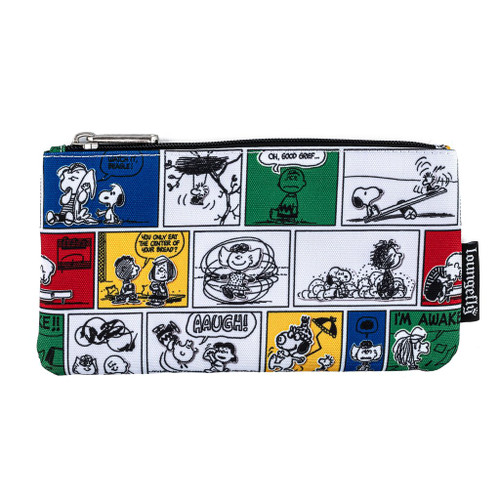 Loungefly Peanuts Comic Strip Cosmetic Pencil Pouch