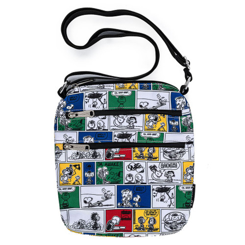 Loungefly Peanuts Comic Strip Cosmetic Crossbody Passport Cellphone Bag