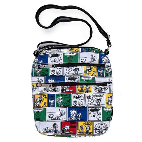 Loungefly Peanuts Comic Strip Cosmetic Crossbody Passport Cellphone Bag