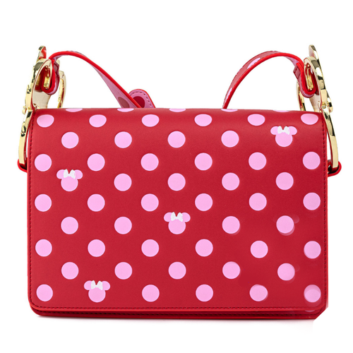 Loungefly x Disney Minnie Mouse Pink Polka Dot Bow Crossbody Bag