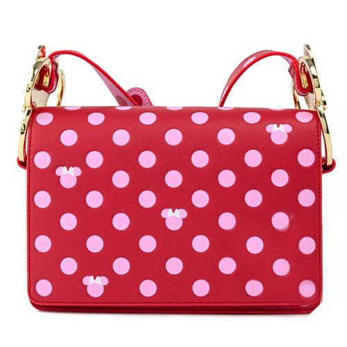 Loungefly x Disney Minnie Mouse Pink Polka Dot Bow Crossbody Bag