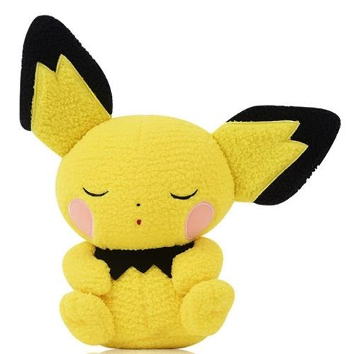 Pokemon Sleeping Pichu Curly Fabric Plush