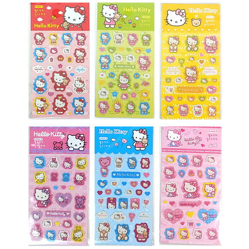 Hello Kitty Silk Sticker Sheets