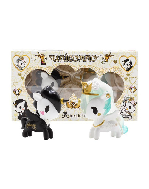 Tokidoki Unicorno Valentine 2 Pack Vinyl Figures Bride and Groom