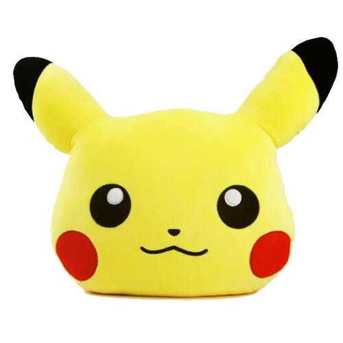 Pokemon Soft Cool Touch Mochi Face Pillow Cushion : Pikachu 19 inches