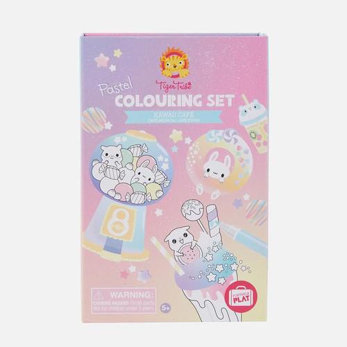 Tiger Tribe Pastel Coloring Set : Kawaii Cafe