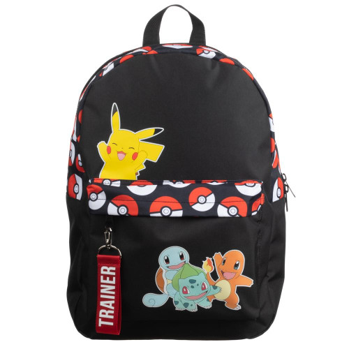 Pokemon Multi Characters Color Block Backpack