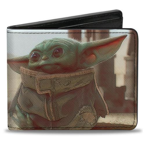 Star Wars The Child Full Body Pose Men's Bi-Fold Wallet