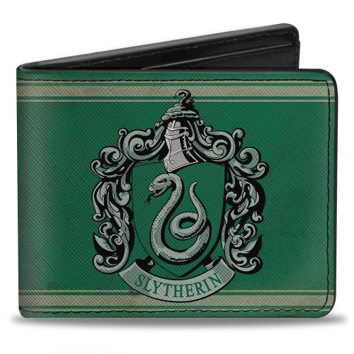 Harry Potter Slytherin Crest Men's Bi-Fold Wallet