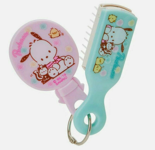 Sanrio Pochacco Mini Mirror & Brush Set Mascot