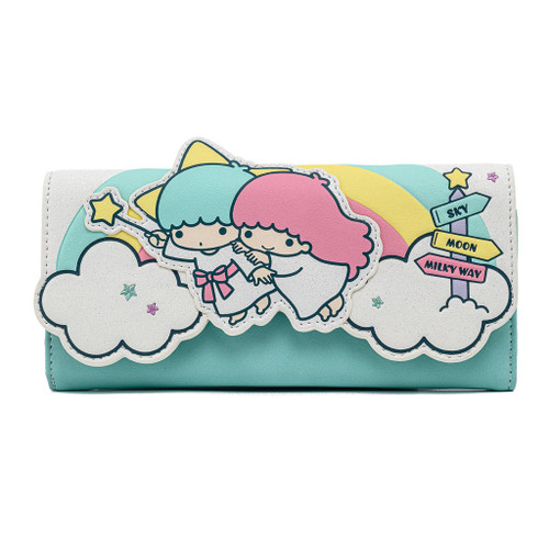 Sanrio x Lougnefly Little Twin Stars Rainbow Cloud Tri-Fold Wallet