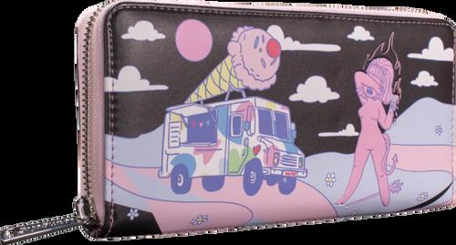 Loungefly Valfre Lucy Ice Cream Truck Zip Around Wallet Ilse Valfré