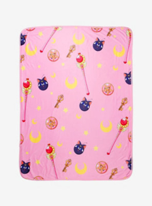 Sailor Moon: Pattern Sublimation Throw Blanket