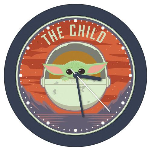 Star Wars Mandalorian Grogu The Child Plastic Clock