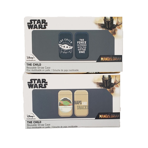 Star Wars The Mandalorian The Child Reusable Straw with Case