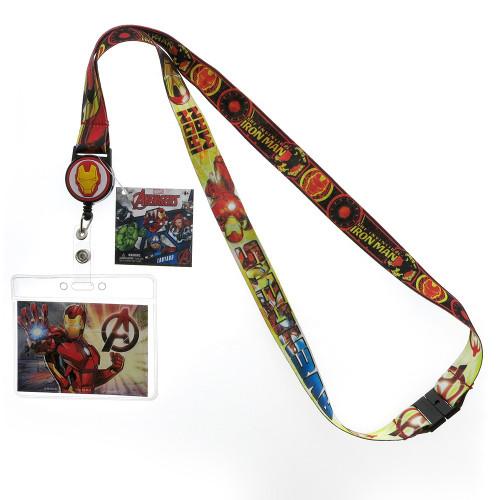 Iron Man Lanyard w/ Retractable Card Holder