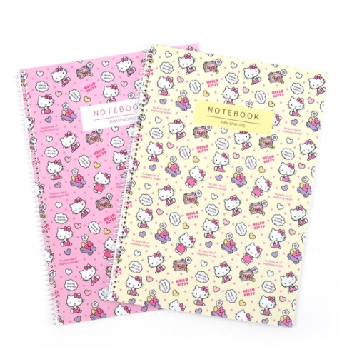 Hello Kitty 7MM Wirebound Notebook