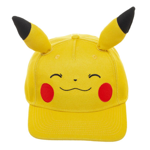 Pokemon: Pikachu Bigface Pre-Curved Bill snapback
