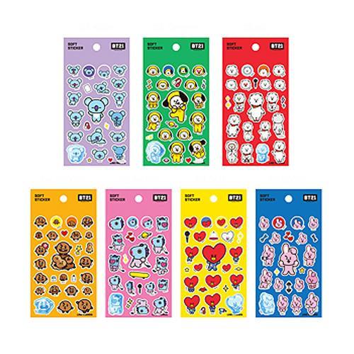 Bt21 Soft Sticker Sheets