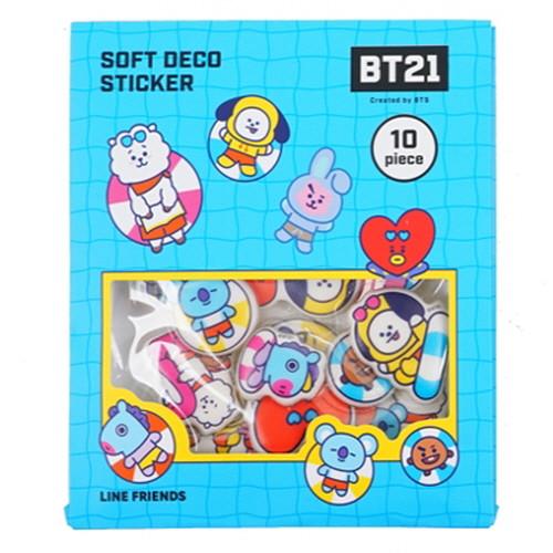 Bt21 Summer Soft Deco Epoxy Stickers