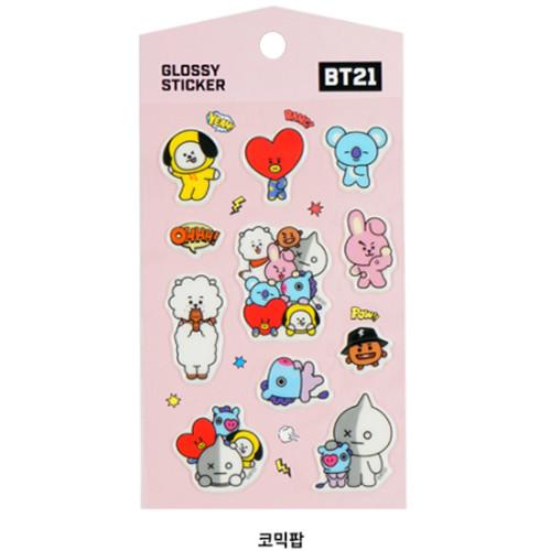 Bt21 Comic Pop Glossy Stickers