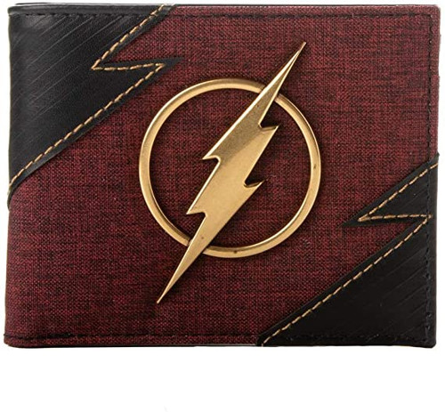 The Flash: Metal Badge Bi-fold Wallet