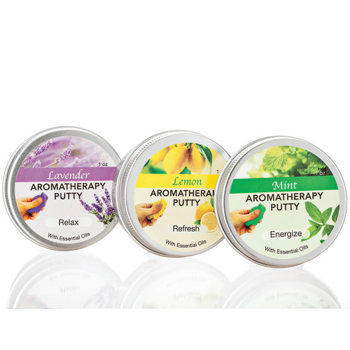 AROMATHERAPY PUTTY STRESS RELIF WITH ESSENTIAL OILS