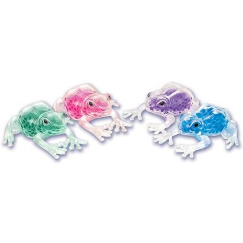 Squishy the Frog Stress Relif with color beads inside