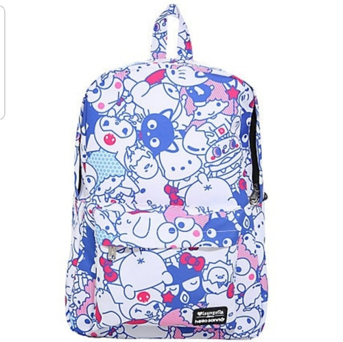 Hello Sanrio Friends White and Blue Backpack