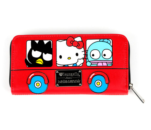 Sanrio characters Bus Zip Long Wallet: hello sanrio