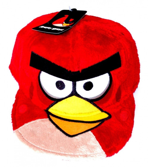 Angry Birds Red Bird Fuzzy­ Plush Flat Bill Snapback