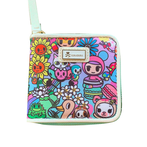 tokidoki Flower Power  Small Zip Around Wallet