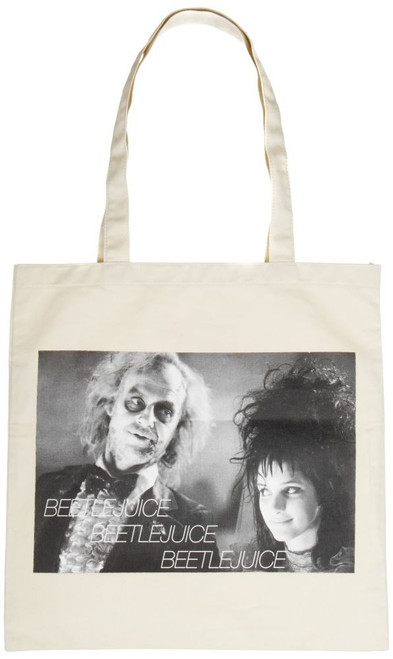 Beetlejuice and Bride Canvas Tote Bag