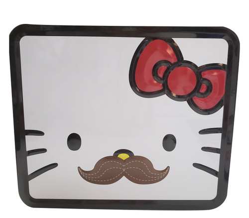 Hello Kitty Mustache Tin Lunchbox